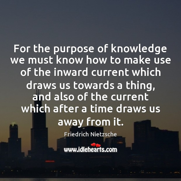 Image, For the purpose of knowledge we must know how to make use