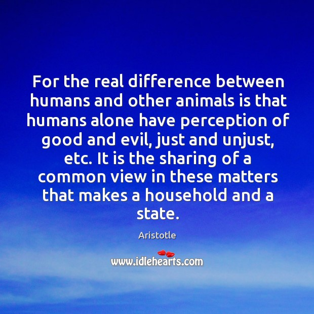 Image, For the real difference between humans and other animals is that humans