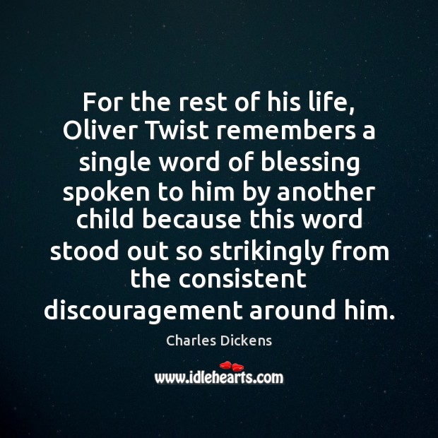 Image about For the rest of his life, Oliver Twist remembers a single word