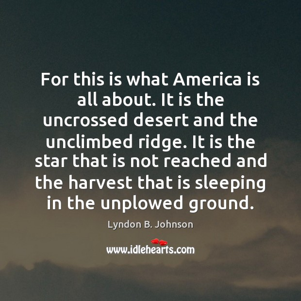 For this is what America is all about. It is the uncrossed Image