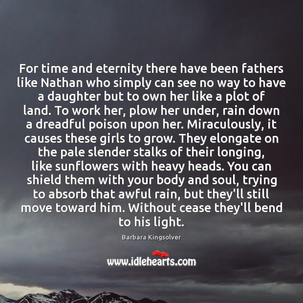 Image, For time and eternity there have been fathers like Nathan who simply