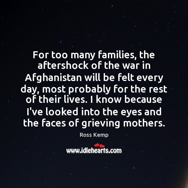 Image, For too many families, the aftershock of the war in Afghanistan will