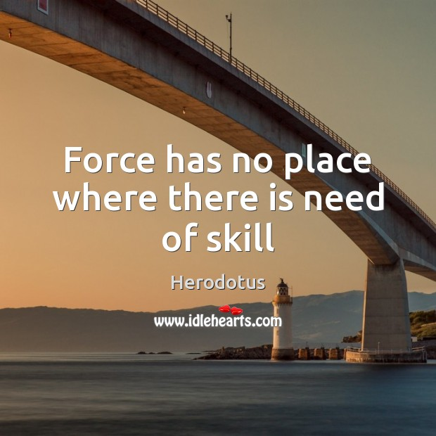 Force has no place where there is need of skill Image
