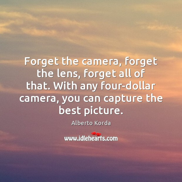 Image, Forget the camera, forget the lens, forget all of that. With any