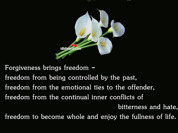 Forgiveness Brings Freedom –