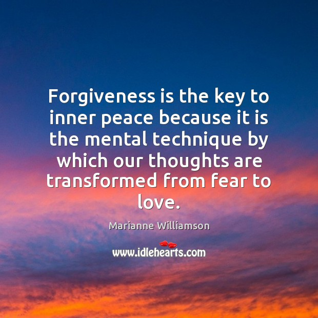 Image, Forgiveness is the key to inner peace because it is the mental