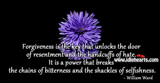 Forgiveness is the key Positive Quotes Image
