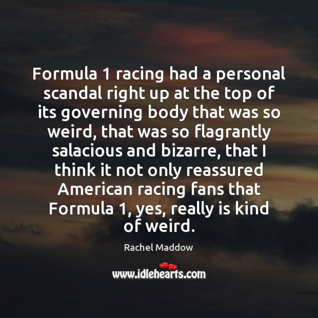 Formula 1 racing had a personal scandal right up at the top of Image