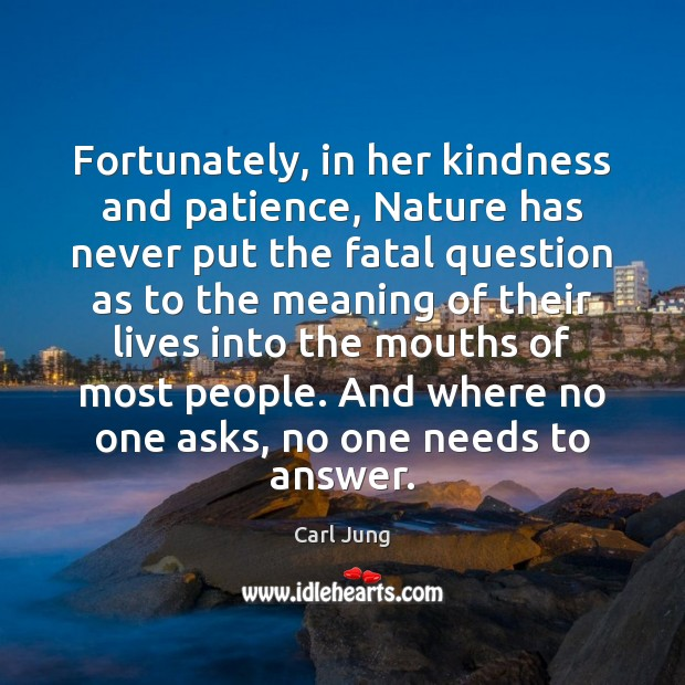 Fortunately, in her kindness and patience, Nature has never put the fatal Image