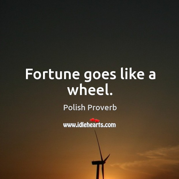 Image, Fortune goes like a wheel.