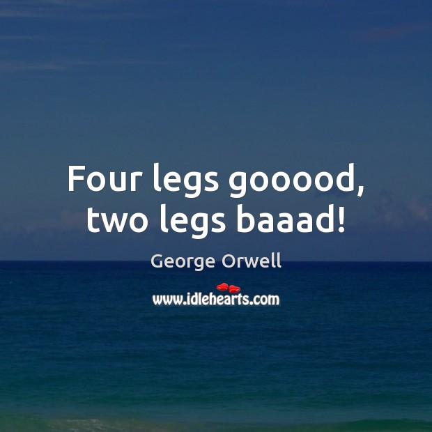 Four legs gooood, two legs baaad! Image