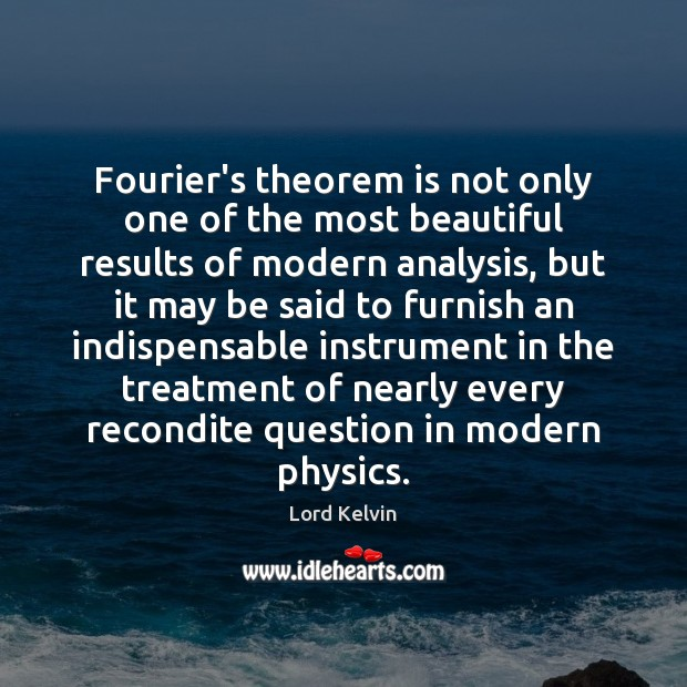 Image, Fourier's theorem is not only one of the most beautiful results of