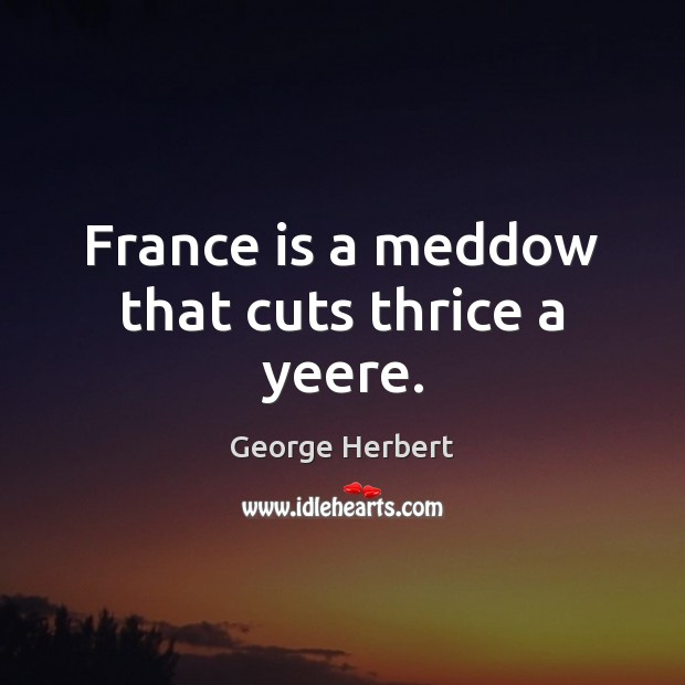 Image, France is a meddow that cuts thrice a yeere.