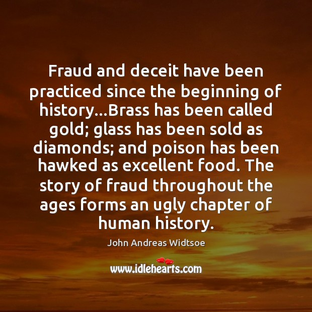 Fraud and deceit have been practiced since the beginning of history…Brass Image
