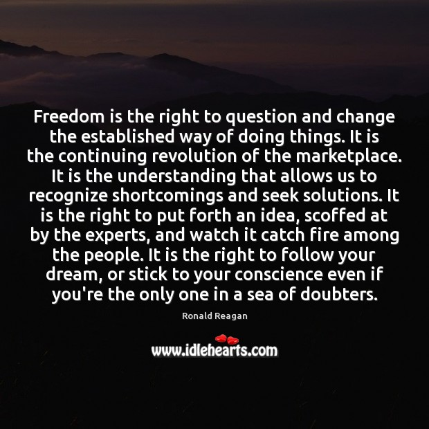 Freedom is the right to question and change the established way of Sea Quotes Image