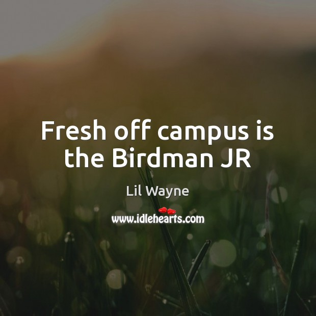 Image, Fresh off campus is the Birdman JR
