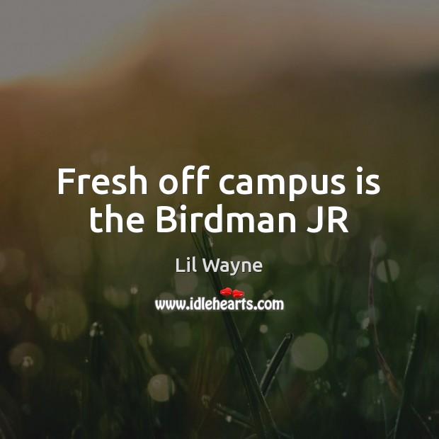 Fresh off campus is the Birdman JR Image