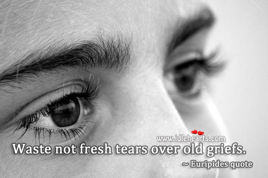 Image, Waste not fresh tears over old griefs.