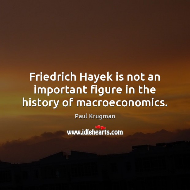 Image, Friedrich Hayek is not an important figure in the history of macroeconomics.