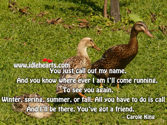 You just call out my name Winter Quotes Image