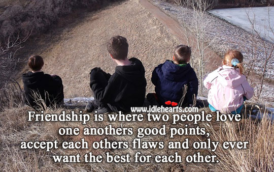 Friendship Is Where Two People Love One Anothers Good Points