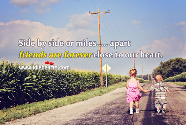 Friends are forever close to our heart. Image