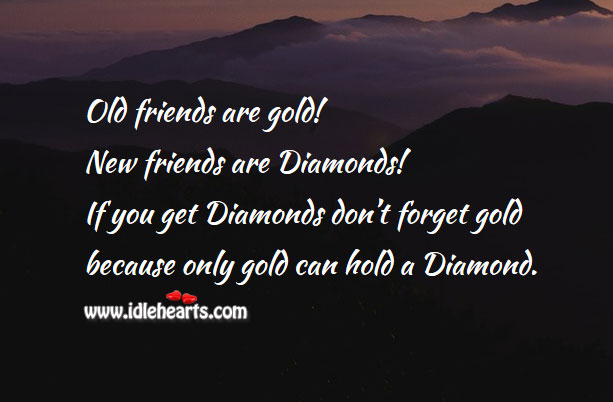 Image about Golden words of friendship!