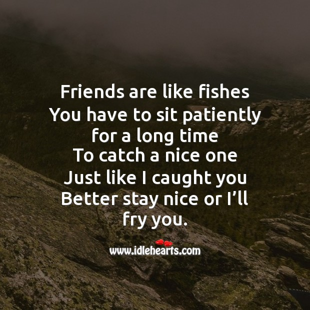 Friends are like fishes Image