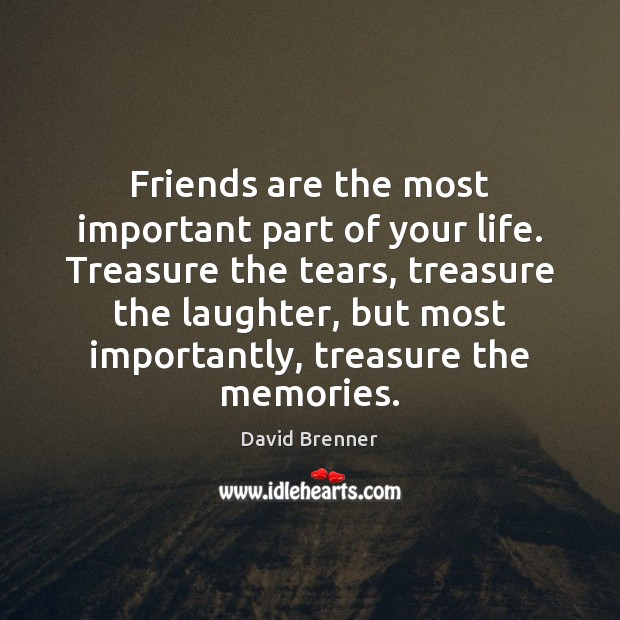 Friends are the most important part of your life. Treasure the tears, Image