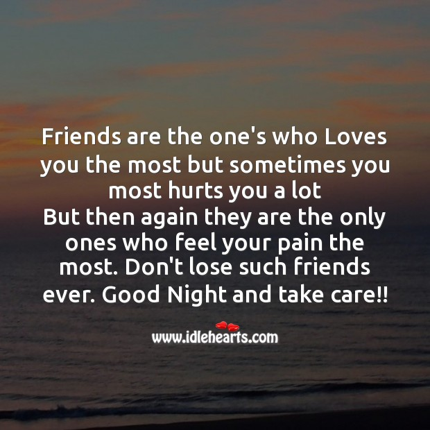 Friends are the one's who loves you Image