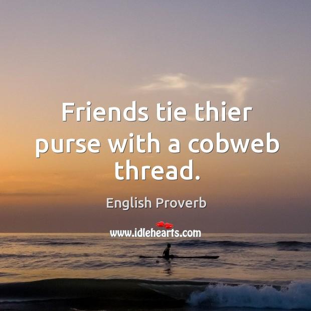 Image, Friends tie thier purse with a cobweb thread.