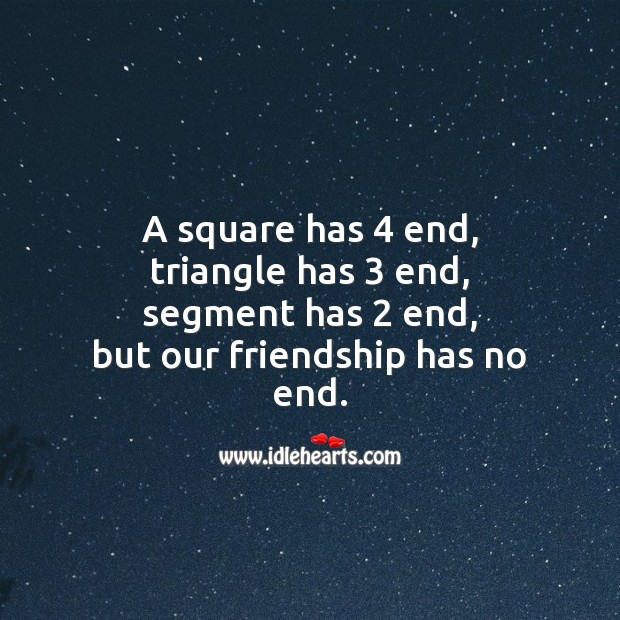 Friendship has no end Friendship Messages Image