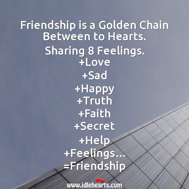 Image, Friendship is a golden chain