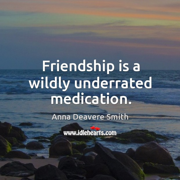 Image, Friendship is a wildly underrated medication.