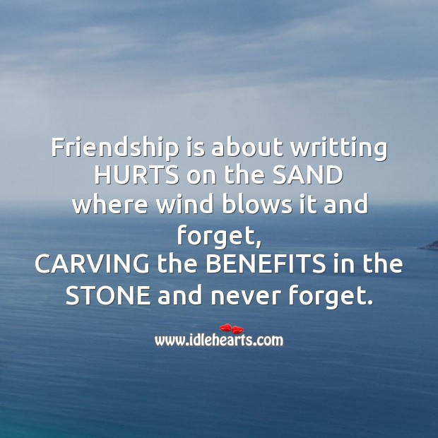 Friendship is about writting Image