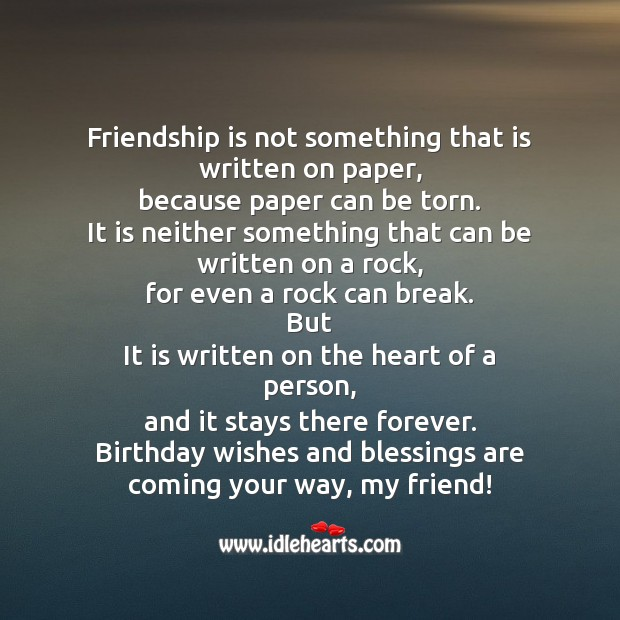 Image, Friendship is not something that is