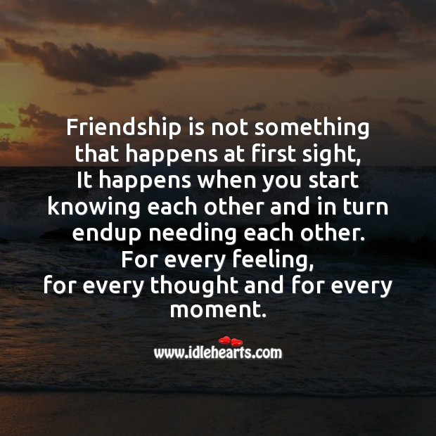 Friendship is not something Image
