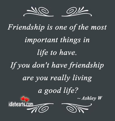friendship is the most valuable thing in life essay