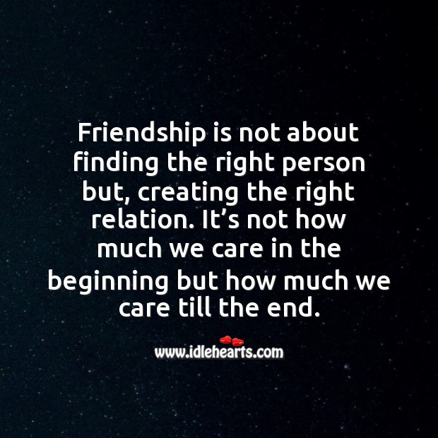 Friendship is the care & love… We have for our friends Image