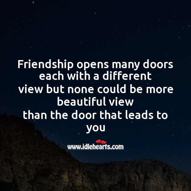 Friendship opens many doors each with a different Friendship Day Messages Image