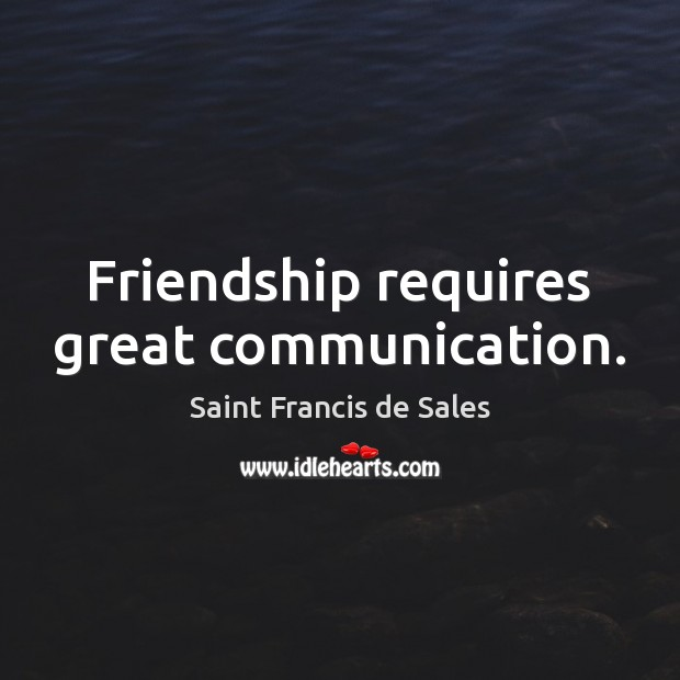 Friendship requires great communication. Image