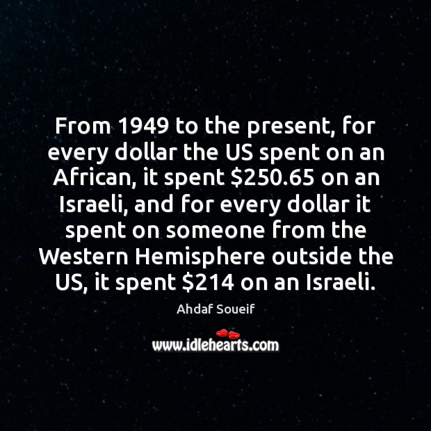 From 1949 to the present, for every dollar the US spent on an Image