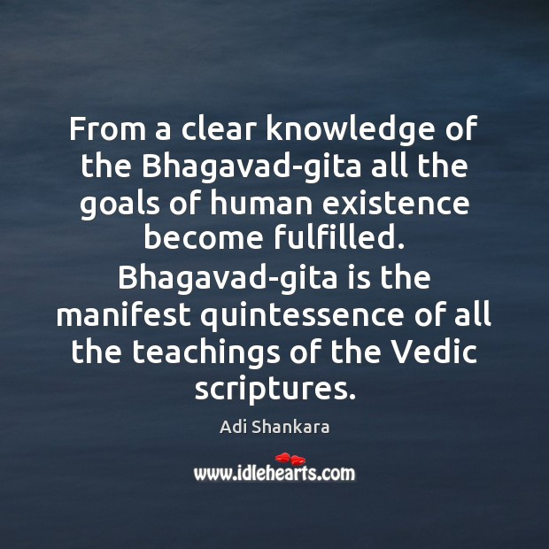 Image, From a clear knowledge of the Bhagavad-gita all the goals of human