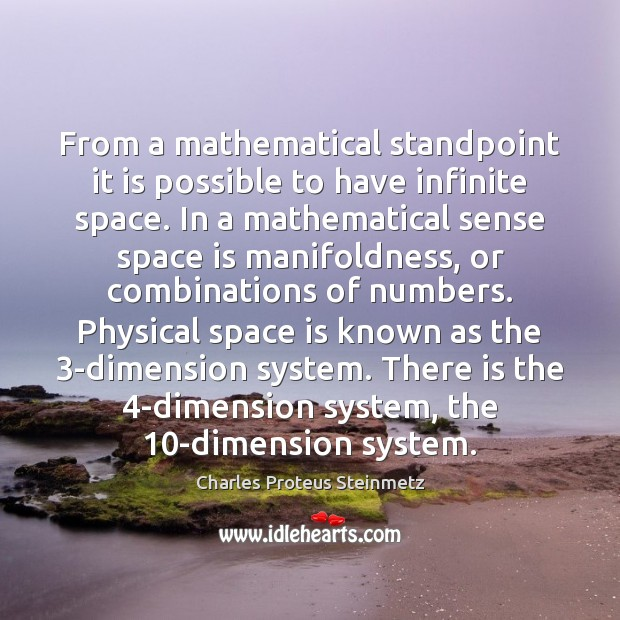 From a mathematical standpoint it is possible to have infinite space. In Image