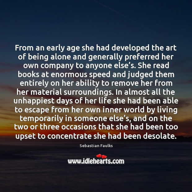 Image, From an early age she had developed the art of being alone