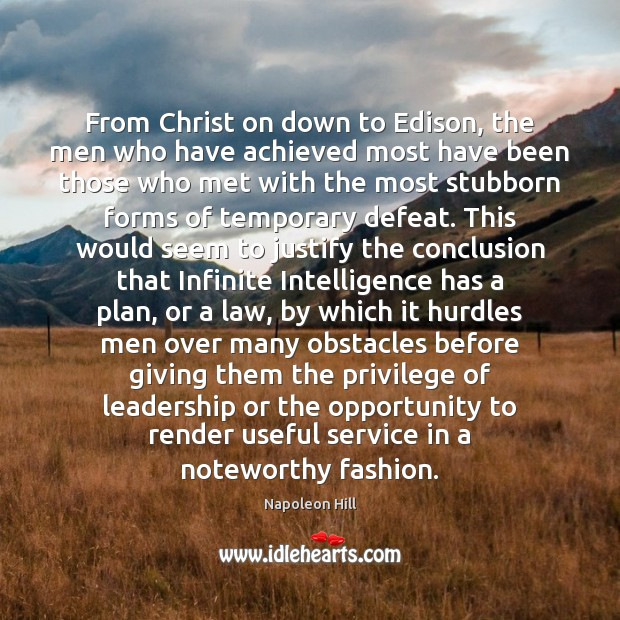 From Christ on down to Edison, the men who have achieved most Image