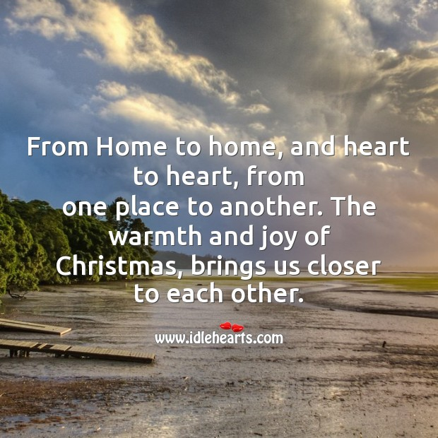 From home to home, and heart to heart Christmas Messages Image