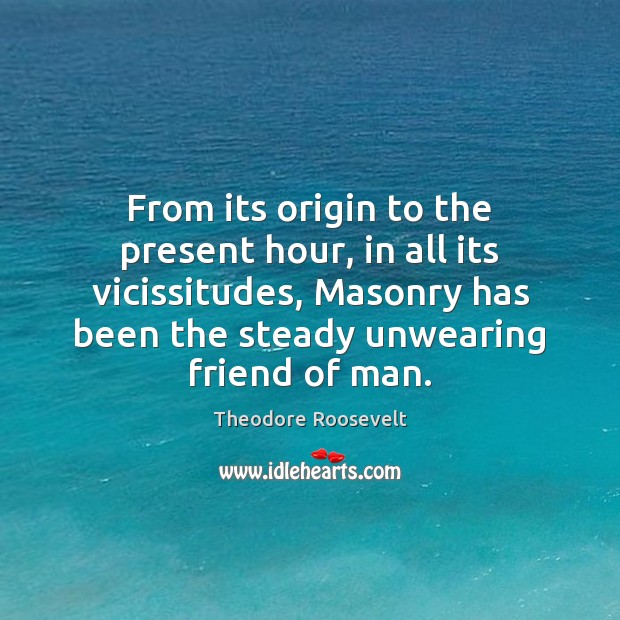 Image, From its origin to the present hour, in all its vicissitudes, Masonry