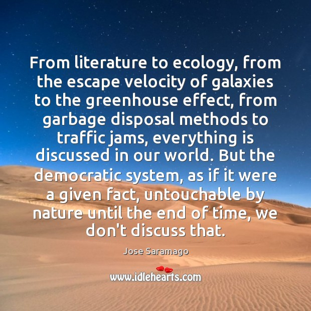 Image, From literature to ecology, from the escape velocity of galaxies to the