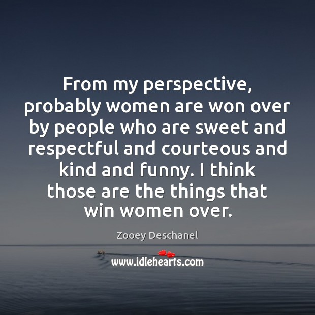 From my perspective, probably women are won over by people who are Image
